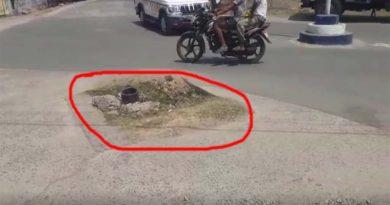 जलावर्धन ने बिगाड़ा शहर का नक्शा,जानलेवा बने सड़क पर खोदे गए गड्डे